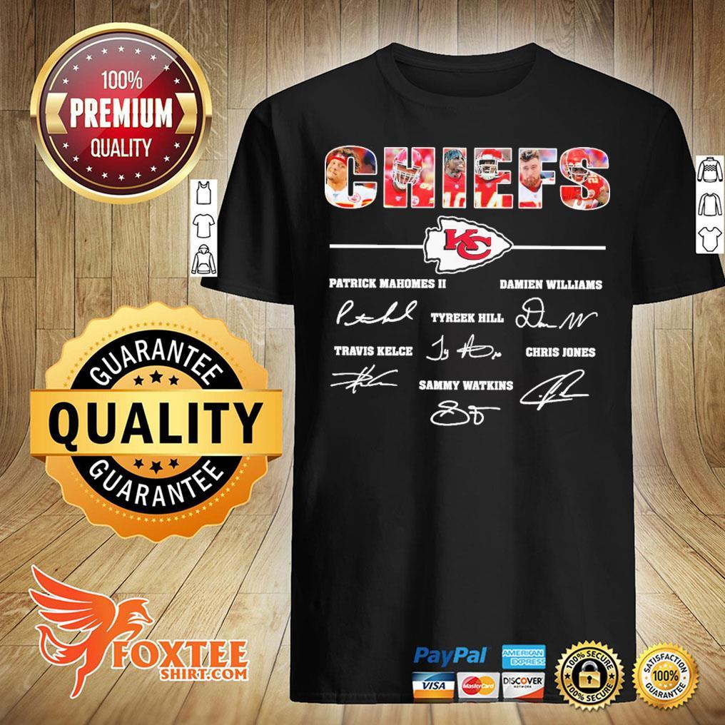 Kansas City Chiefs All Players Signatures Shirt