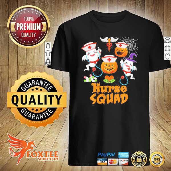 Nurse Squad Team Crew Cute Pumpkin Ghost Witch Boo Shirt