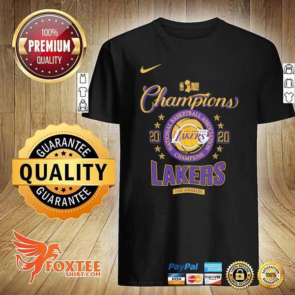 2020 Los Angeles Lakers Champions NBA T-Shirt