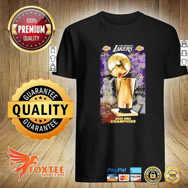 2020 Los Angeles Lakers Champions Signature Shirt