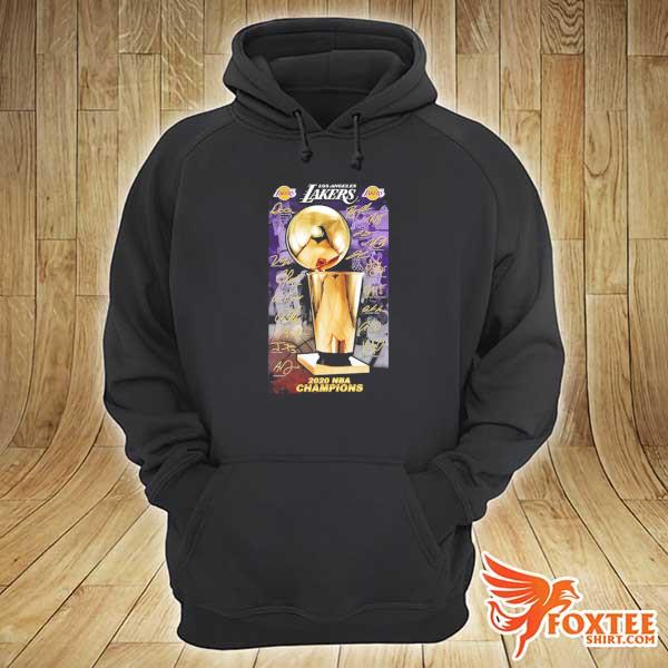 2020 Los Angeles Lakers Champions Signature Shirt hoodie