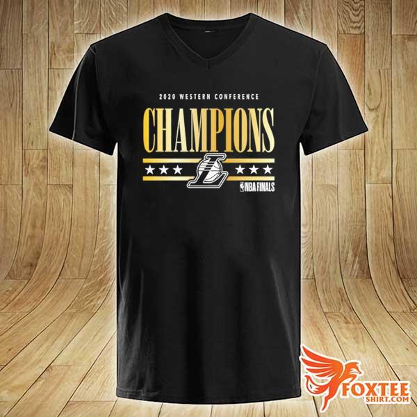 2020 Los Angeles Lakers Western Conference Champions T-Shirt v-neck