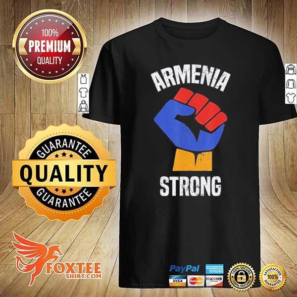 Armenia Strong Shirt Artsakh Republic Defend Armenian Fist Shirt