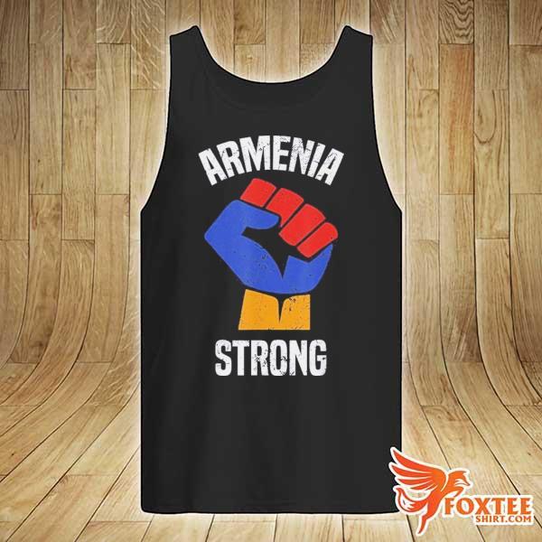 Armenia Strong Shirt Artsakh Republic Defend Armenian Fist Shirt tank-top