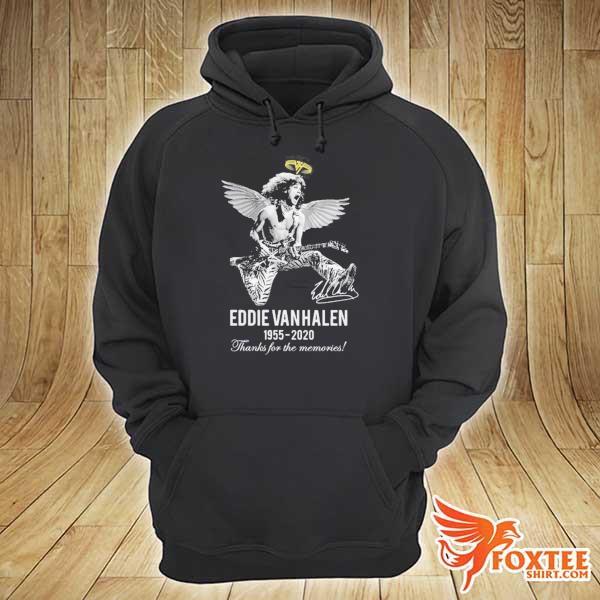 EDDIE VAN HALEN ANGLE 1955 2020 SIGNATURE THANKS FOR THE MEMORIES SHIRT hoodie