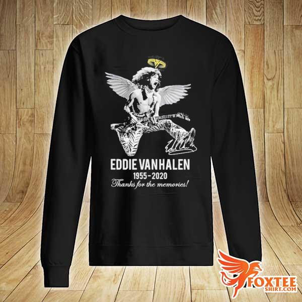 EDDIE VAN HALEN ANGLE 1955 2020 SIGNATURE THANKS FOR THE MEMORIES SHIRT sweater