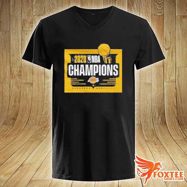 Front NBA Champions T Shirt Lakers Tee v-neck