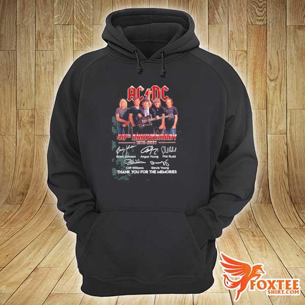 2020 ac dc 48th anniversary 1973 - 2021 signatures thank you for the memories sweats hoodie