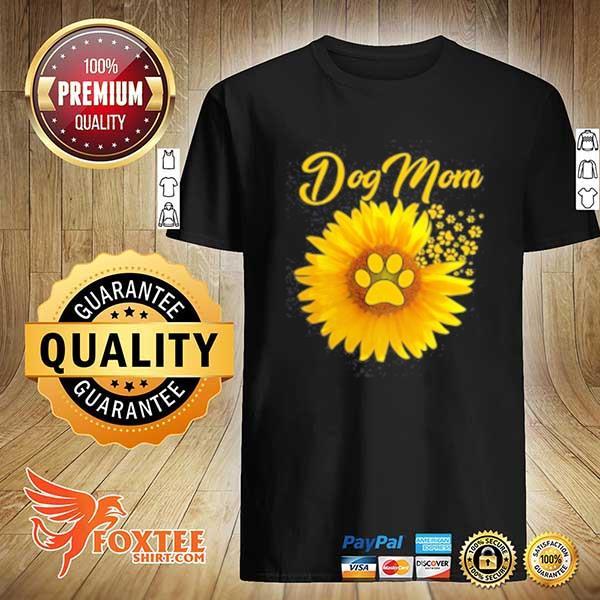 2020 dog mom shirt amazing dog mom sunflower dog paw sweatshirt