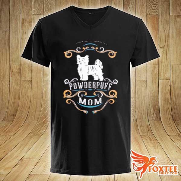 2020 dog mom shirt powderpuff mom chinese crested dog tank top v-neck