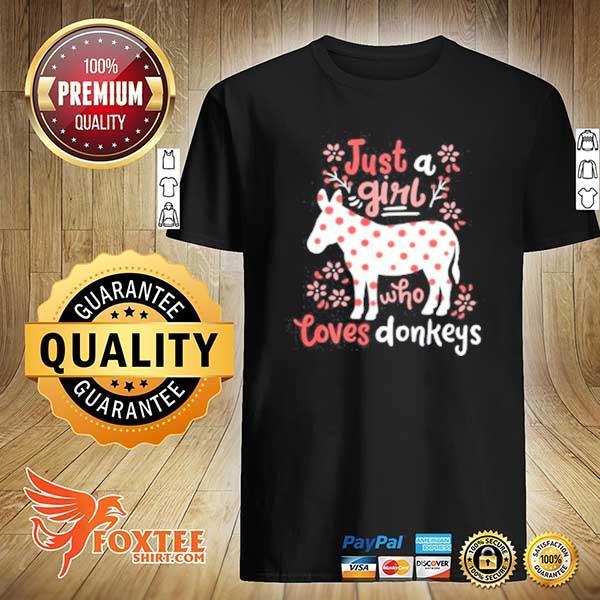 2020 donkey gift just a girl who loves donkey youth sweatshirt