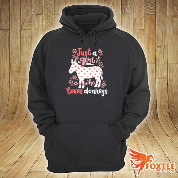 2020 donkey gift just a girl who loves donkey youth sweats hoodie
