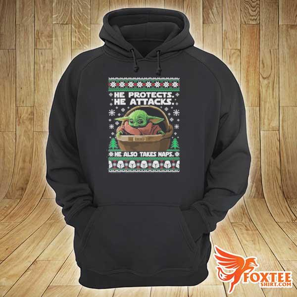 2020 star wars the mandalorian baby yoda ugly christmas sweats hoodie