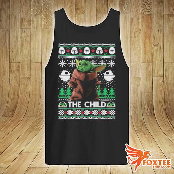 2020 the child baby yoda ugly christmas sweats tank-top