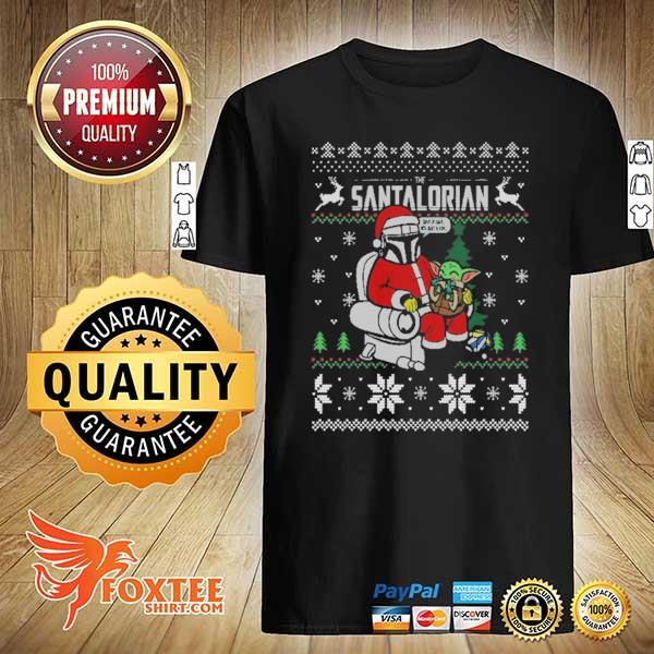 2020 the santalorian the mandalorian christmas perfect weight the mandalorian ugly christmas sweatshirt