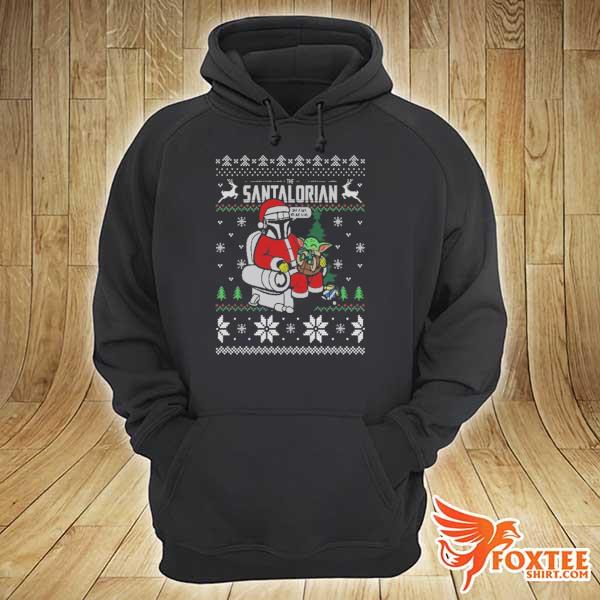 2020 the santalorian the mandalorian christmas perfect weight the mandalorian ugly christmas sweats hoodie