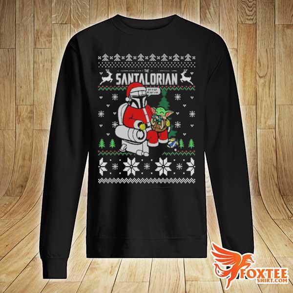 2020 the santalorian the mandalorian christmas perfect weight the mandalorian ugly christmas sweats sweater