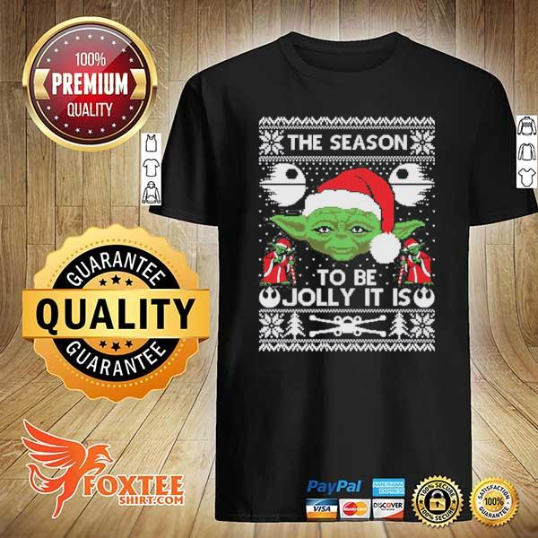 2020 the season to be jolly it is yoda ugly christmas sweatshirt