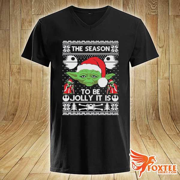 2020 the season to be jolly it is yoda ugly christmas sweats v-neck