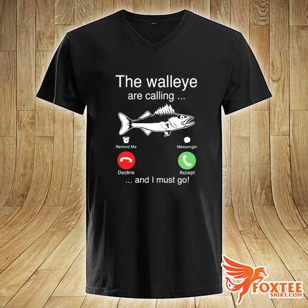 2020 the walleye are calling and i must go fish sweats v-neck