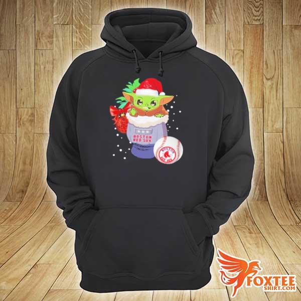 Boston Red Sox Christmas Baby Yoda Star Wars Funny Happy MLB Sweats hoodie