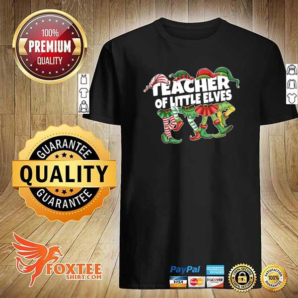 Official christmas teacher of little elves shirt