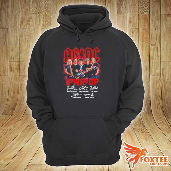 Original ac dc rock band power up album signatures sweats hoodie
