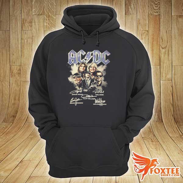 Original ac dc signatures art sweats hoodie