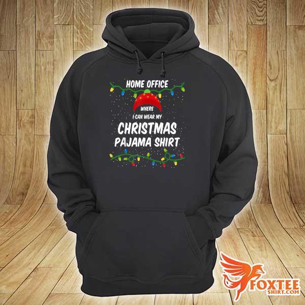 2020 home office where i can wear my christmas pajama lights sweats hoodie