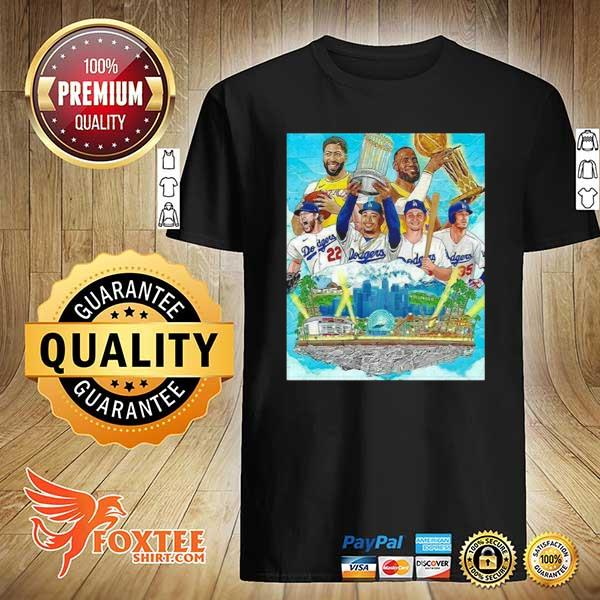 2020 los angeles lakers and los angeles dodgers champions 2020 player shirt