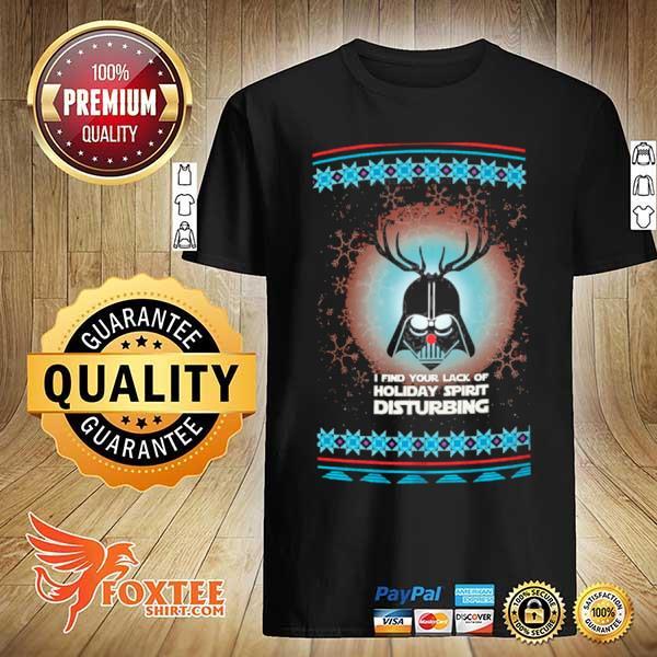 Darth Vader Reindeer I find your lack of holiday spirit disturbing ugly christmas Sweatshirt