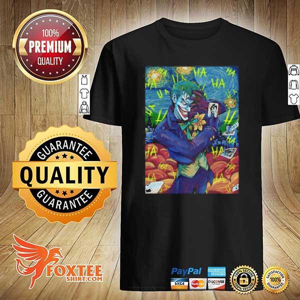 Dc Comics The Joker Starry Night Style Portrait shirt