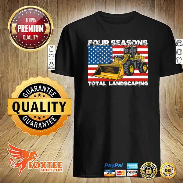 Four Season Total Landscaping American flag shirt
