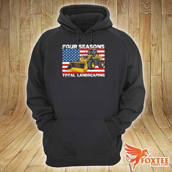 Four Season Total Landscaping American flag s hoodie