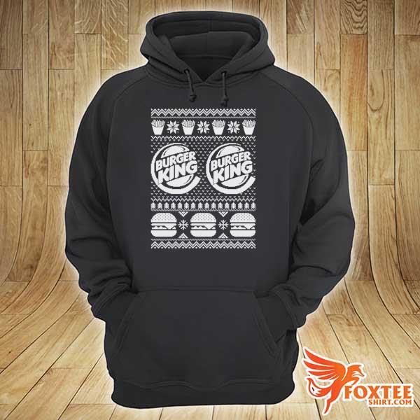 Original burger king christmas xmas ugly sweater hoodie