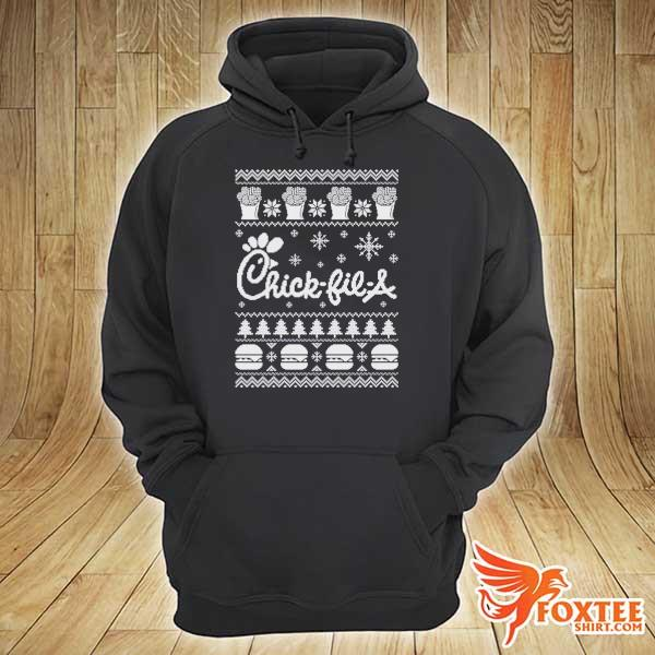 Original chick-fil-a christmas xmas ugly sweater hoodie