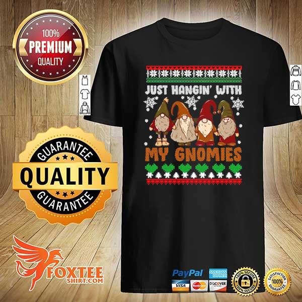 Original hangin with my gnomies adorable christmas gnome lover xmas ugly sweatshirt