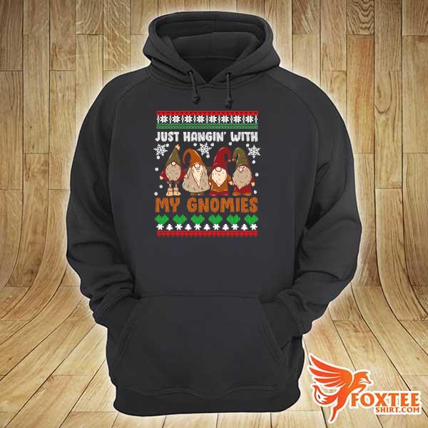 Original hangin with my gnomies adorable christmas gnome lover xmas ugly sweats hoodie