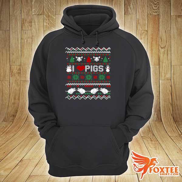 Original i love pigs ugly christmas xmas ugly sweats hoodie