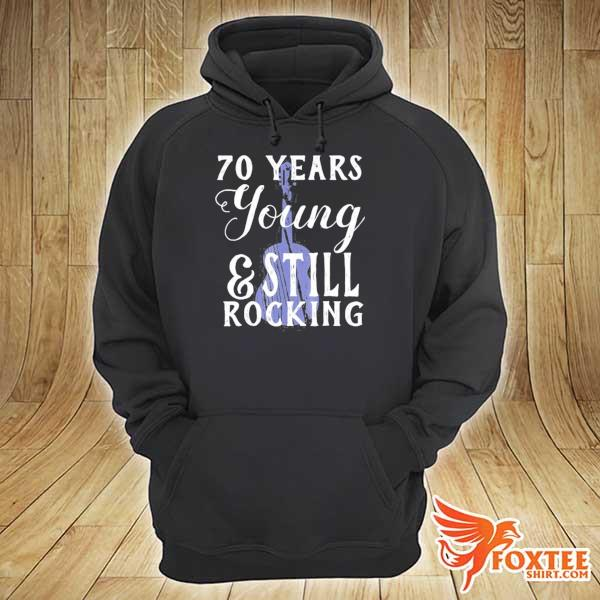70 years old still rocking guitar for 70th birthday s hoodie