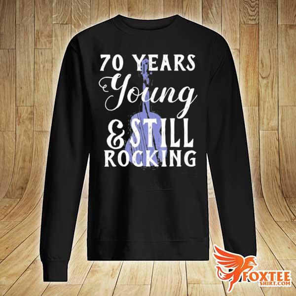 70 years old still rocking guitar for 70th birthday s sweater