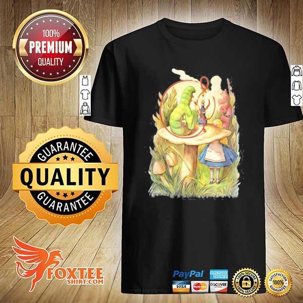 Alice and the hookah smoking caterpillar design shirt