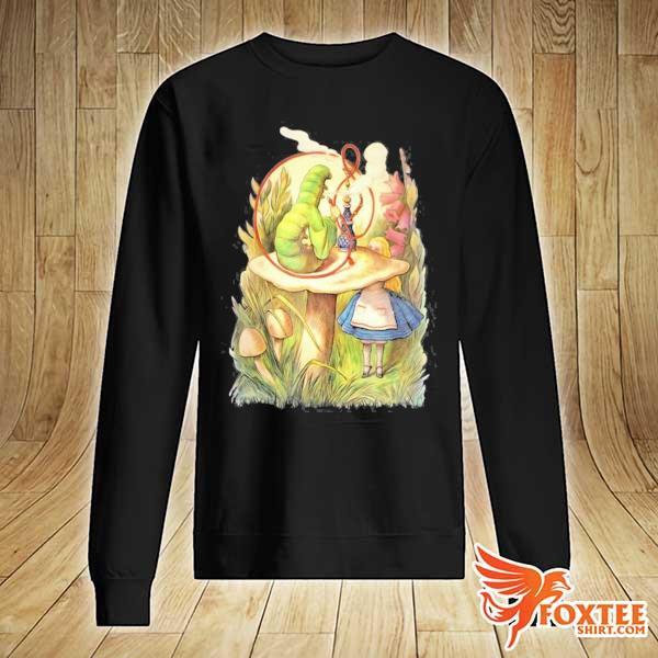 Alice and the hookah smoking caterpillar design s sweater