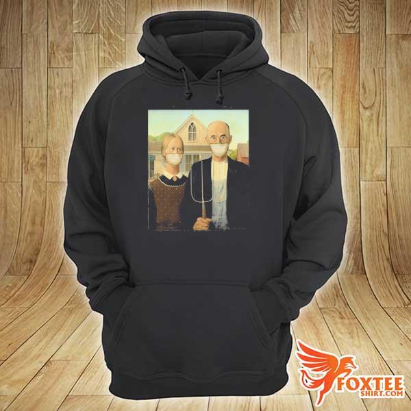 Americana wearing masks famous painting wear a mask s hoodie