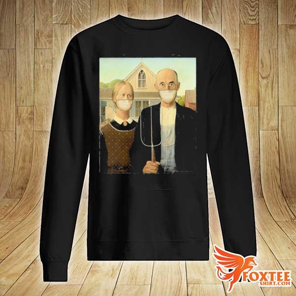 Americana wearing masks famous painting wear a mask s sweater