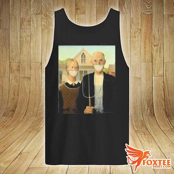 Americana wearing masks famous painting wear a mask s tank-top