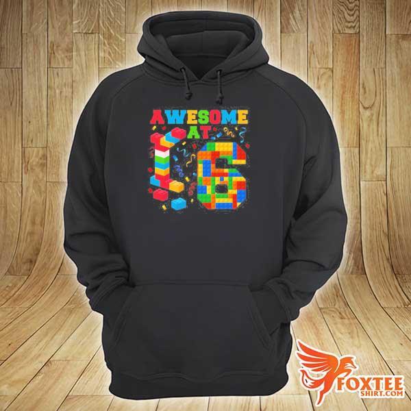Awesome at 6 kids 6th birthday building blocks bricks s hoodie