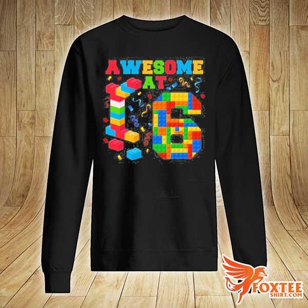 Awesome at 6 kids 6th birthday building blocks bricks s sweater