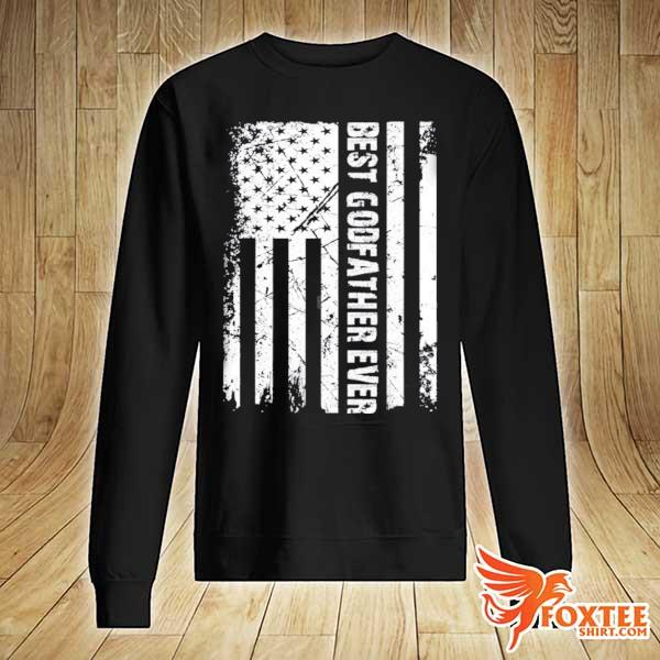 Best godfather ever American flag fathers day gift s sweater