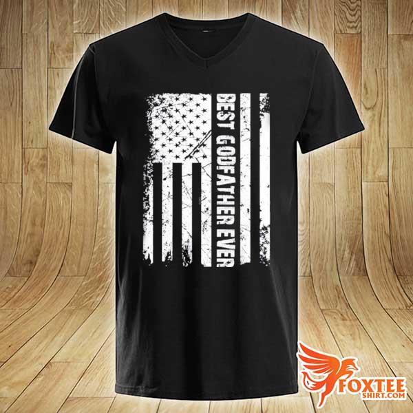 Best godfather ever American flag fathers day gift s v-neck